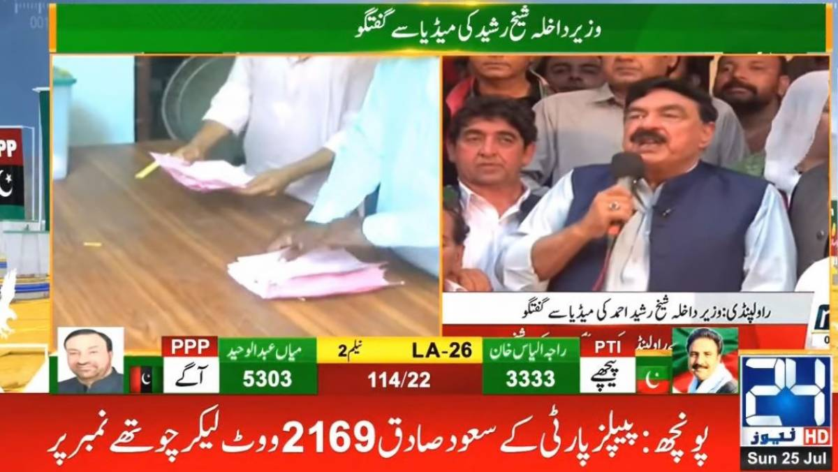 Sheikh Rasheed to announce 'Imran Khan's victory' in AJK polls by 9:30pm