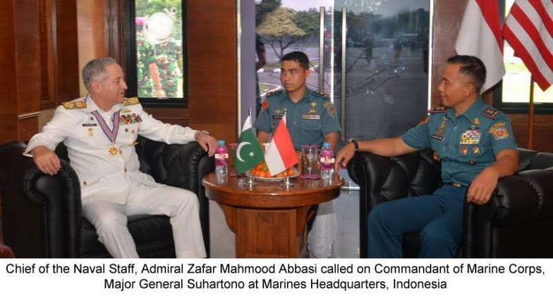 Naval chief discusses defence cooperation with key Indonesian officials