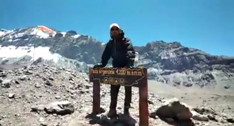 Young Pakistani climbs up highest peak outside Asia