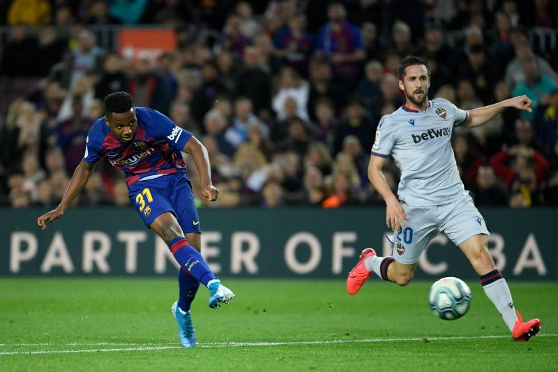 Fati and Messi connection sees Barca hold on against Levante