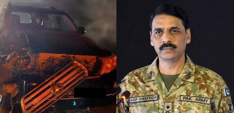 Former DG ISPR's four-day old car accident pics go viral