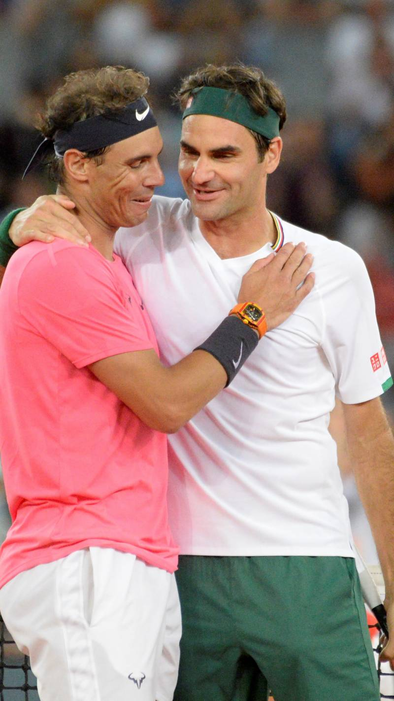 Federer, Nadal play to record crowd in Cape Town