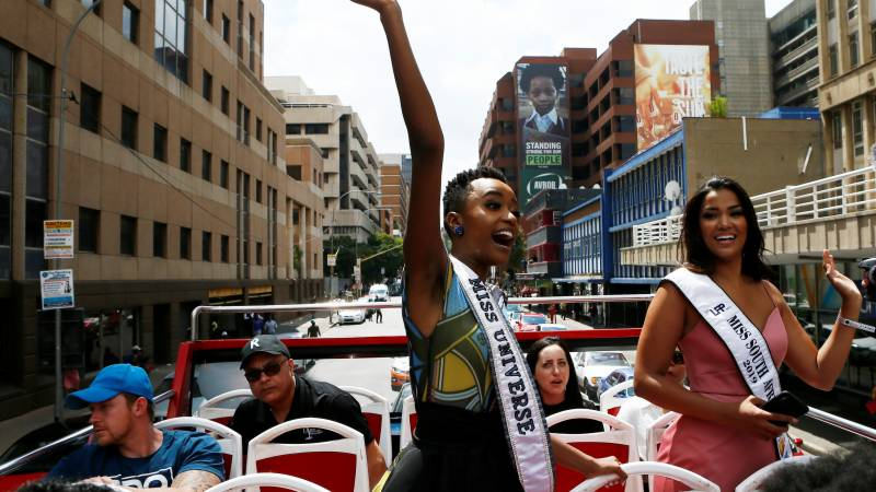 Back in South Africa: Miss Universe inspires black girls