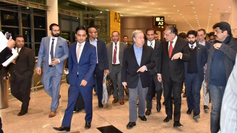 UN secretary general arrives in Pakistan on four-day visit