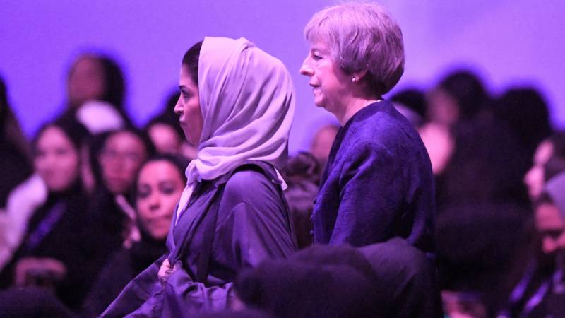 'Be yourself' ex-British PM May advises women in politics