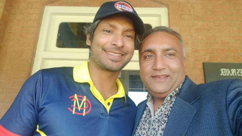 Cricket-hero Pakistani bus driver meets Kumar Sangakkara