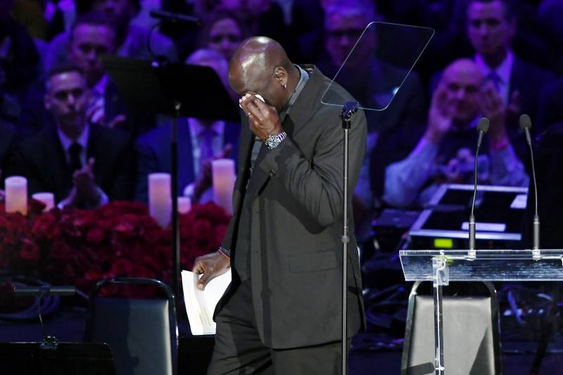 Tearful Michael Jordan commemorates 'little brother' Kobe Bryant