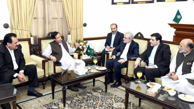 Parvez Elahi, Iranian envoy discuss mutual ties