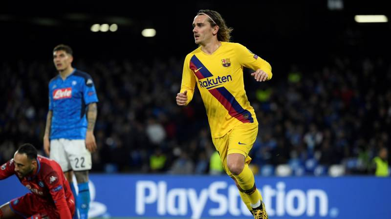 Griezmann earns Barcelona 1-1 draw at Napoli
