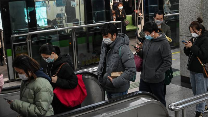 China reports 44 new virus deaths, lowest rise in new cases