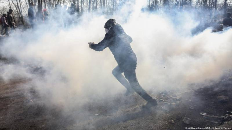 War Crime? Potentially lethal tear gas shells found where migrants are battling police to enter Greek