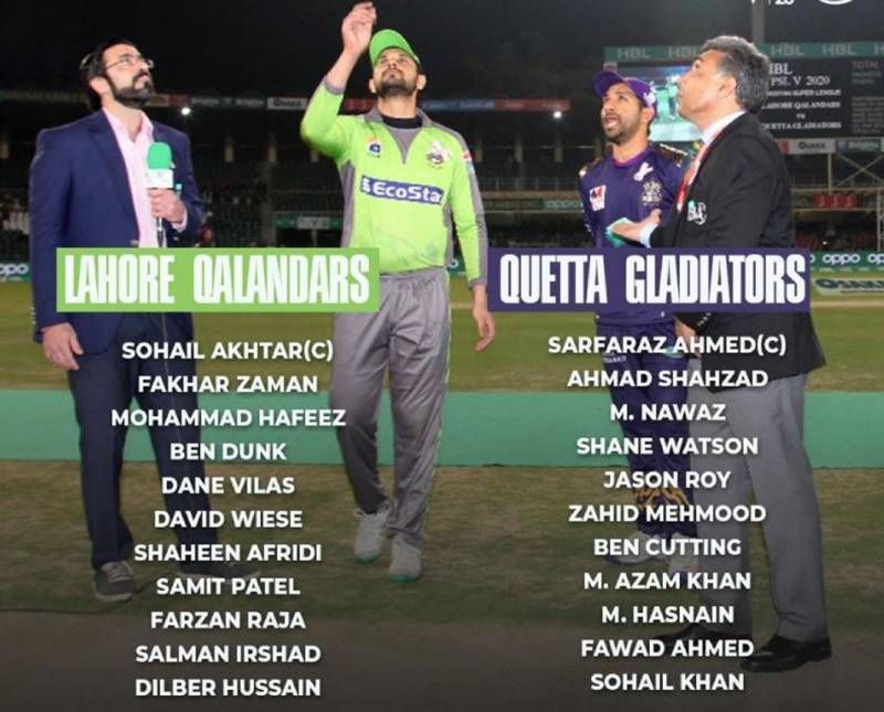 Qalandars make four changes and elected to field first against Quetta