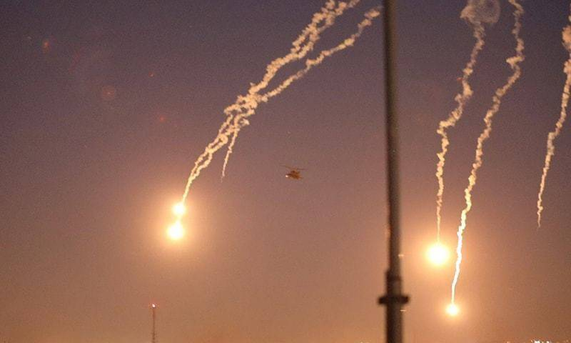 Iraqi army says 10 rockets hit base housing US personnel