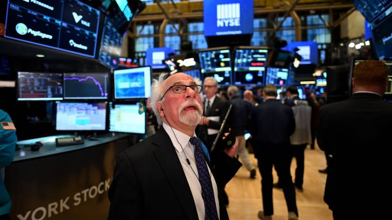 Wall Street trading halted after opening bell on deep losses