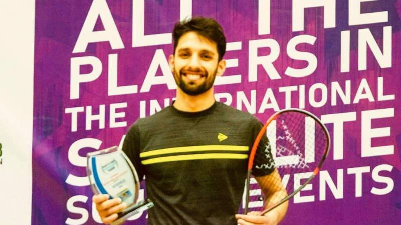 Nasir Iqbal back in squash court with a bang