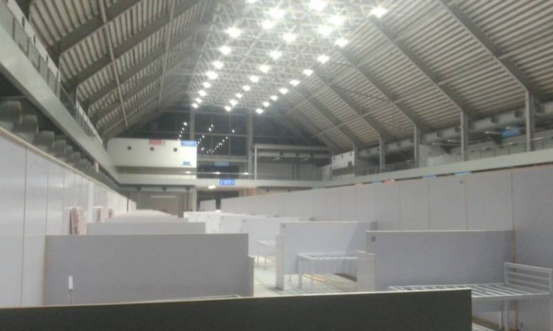 First phase of 1,000-bed field hospital at Lahore's Expo Centre ...