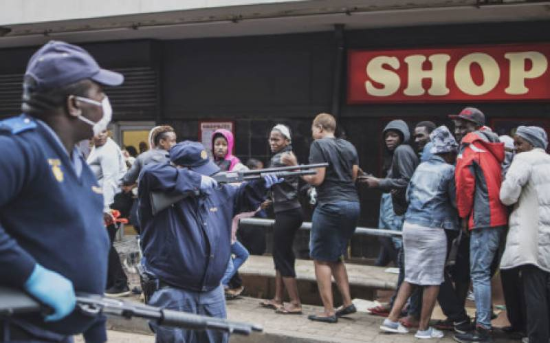 South African policeman arrested for murder amid virus lockdown