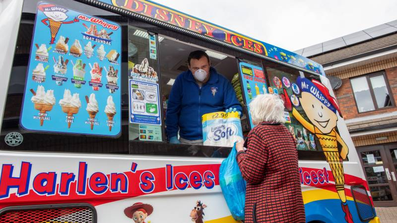 Cone-a-virus: ice cream van delivers for Belfast's vulnerable