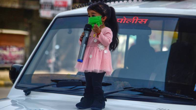 World's smallest woman in India stay-at-home virus appeal