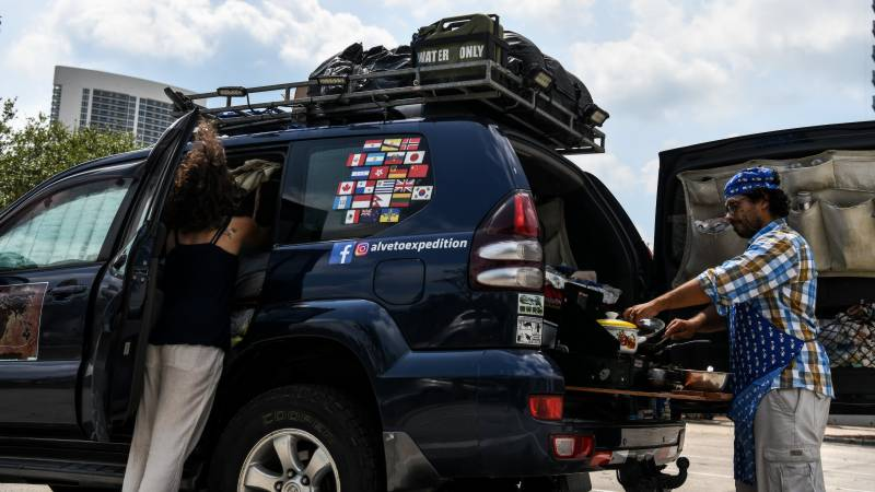 Virus stalls globetrotters' trip in a Florida parking lot