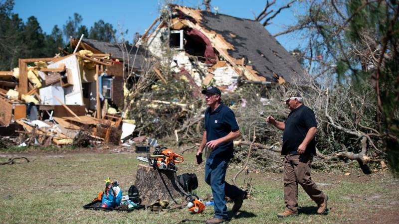 Pacific clean-up after homes blown to smithereens by superstorm
