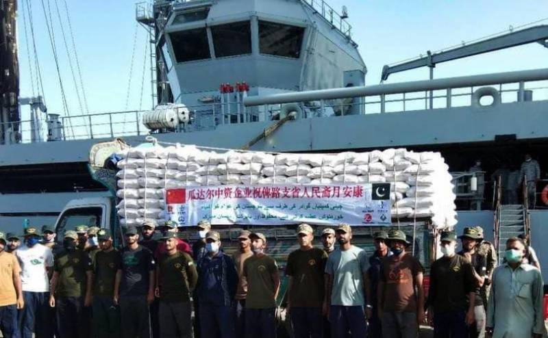 Pakistan Navy continues relief operations nationwide