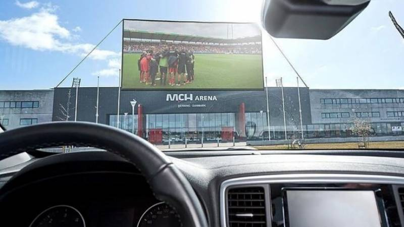 Danish football club offers drive-in viewing for match