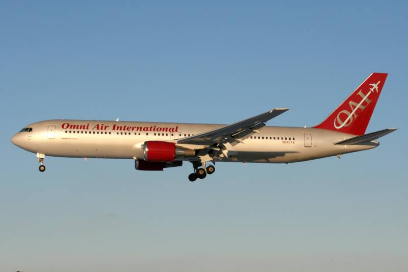 Omni Air allowed special flights from Pakistan