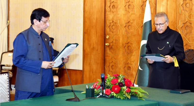 Aminul Haque takes oath as federal minister