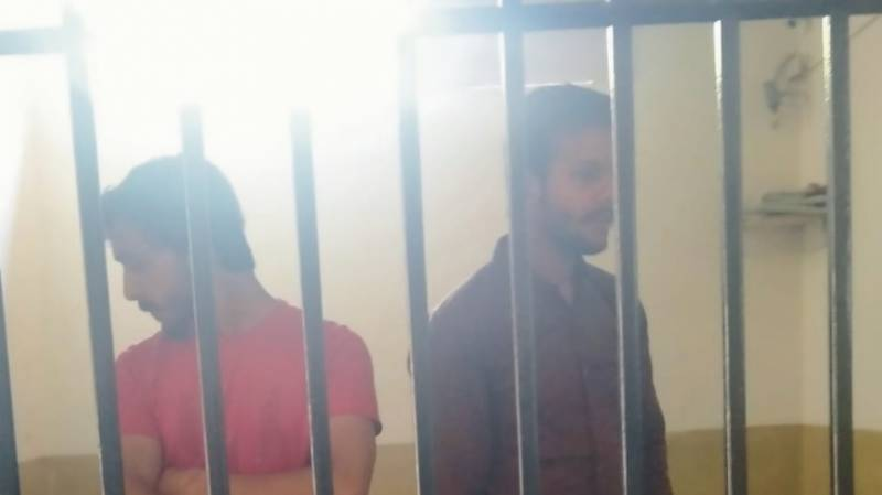 Two arrested for teasing on-duty warden