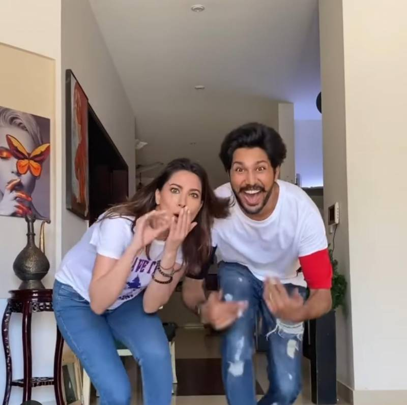 Mehwish Hayat's Tik Tok challenge video with brother breaks internet
