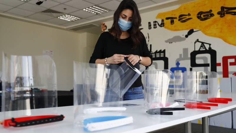 Egypt tech firm aids virus fight with 3D-printed face shields