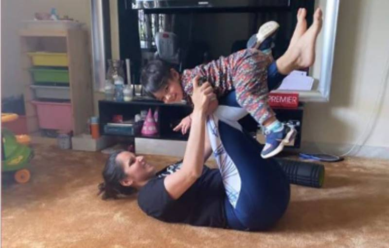 Sania Mirza workout photo with son Izhaan goes viral