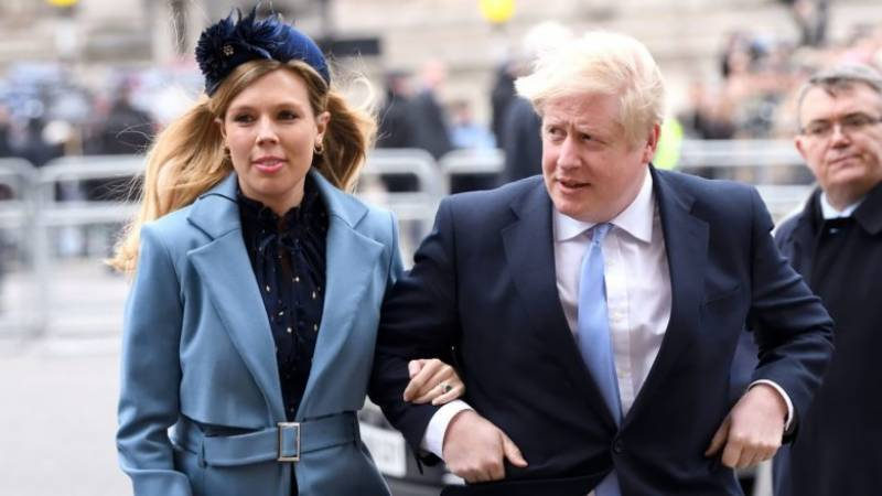 Weeks after virus scare, British PM becomes father again