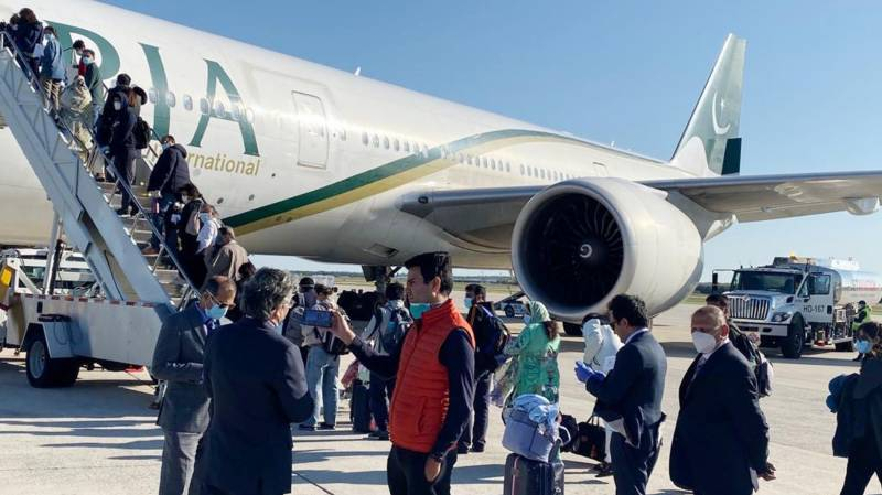 Special PIA flight brings back 200 stranded Pakistanis from US