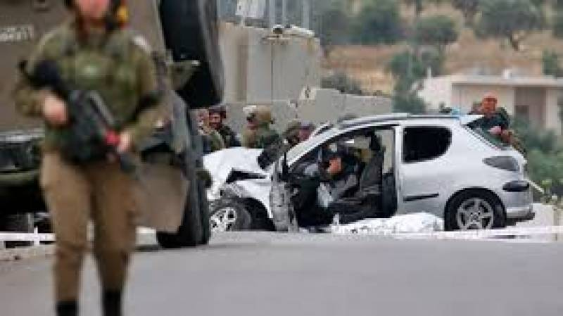 Palestinian shot dead after ramming car into Israeli soldiers