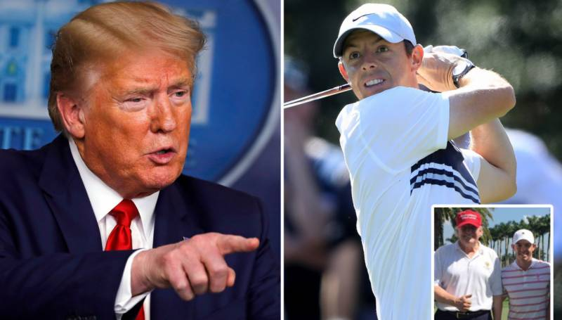 World No 1 McIlroy 'probably wouldn't' golf again with Trump