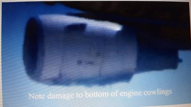 Engines touched runway during botched landing attempt