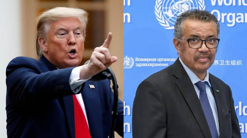 Trump snaps ties with WHO
