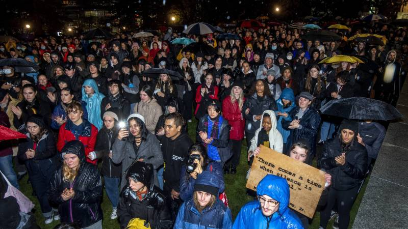 US anti-racism protests stretch to distant New Zealand