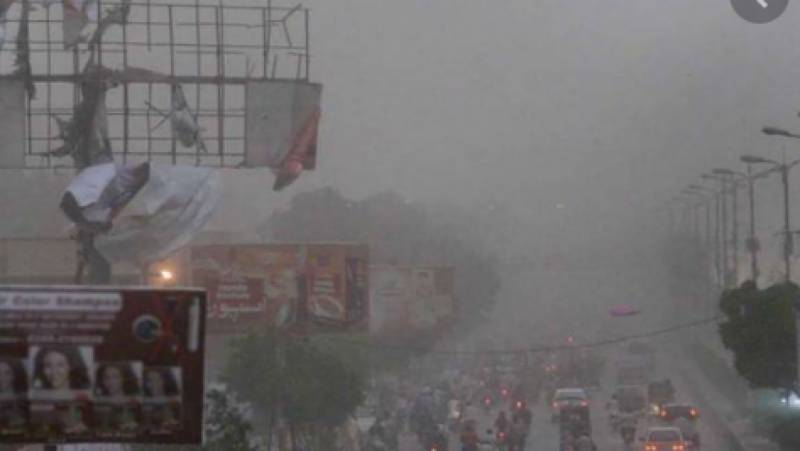Four die as dust storm hits Karachi