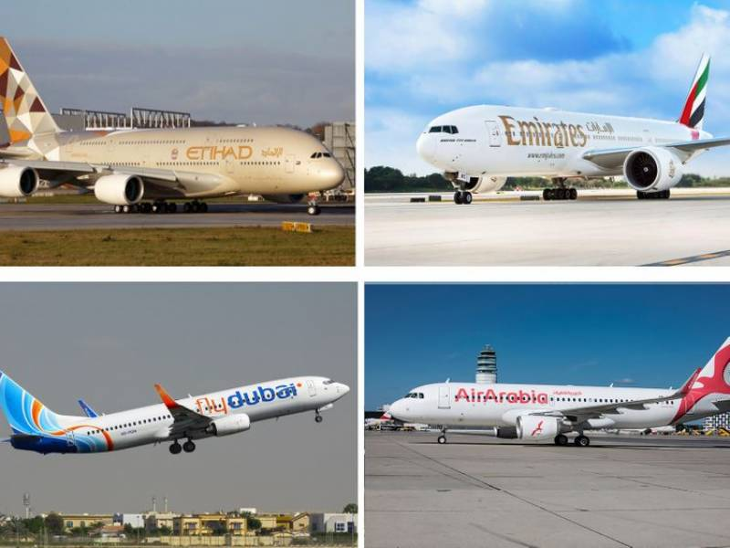 Etihad, Emirates, flydubai, Air Arabia to resume transit flights