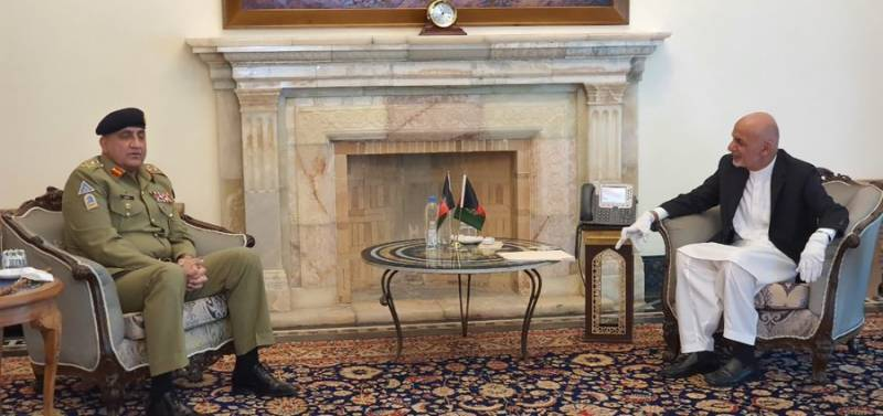 COAS, ISI chief hold talks with President Ghani in Kabul