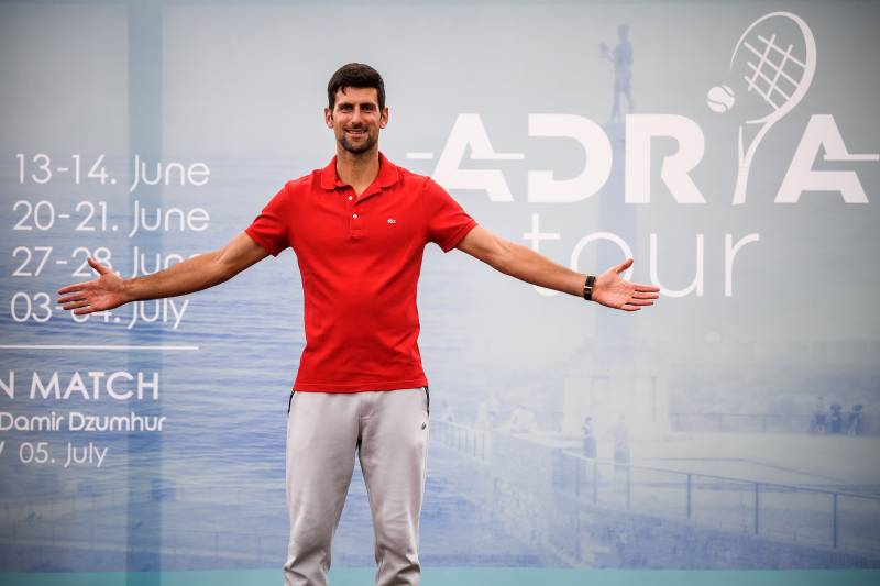 Fans welcome as Djokovic event helps tennis emerge from coronavirus