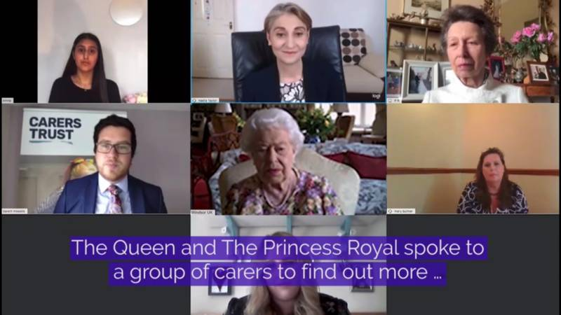 Queen joins first official video call
