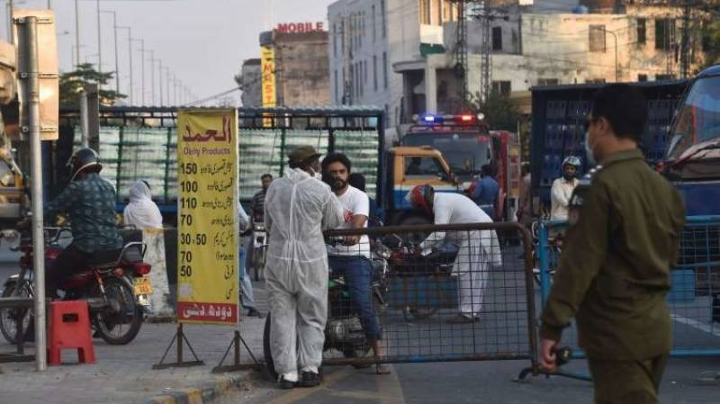 Various areas of Lahore sealed for two weeks