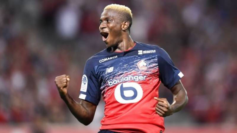 Lille's Osimhen collects top Ligue 1 African honour