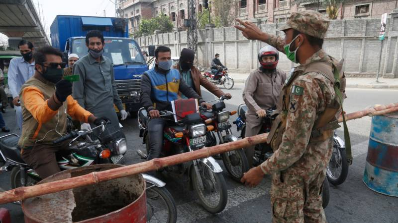 Lockdown extended in many Lahore areas