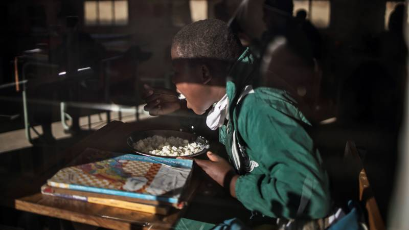 South African pupils miss meals as virus limits school return