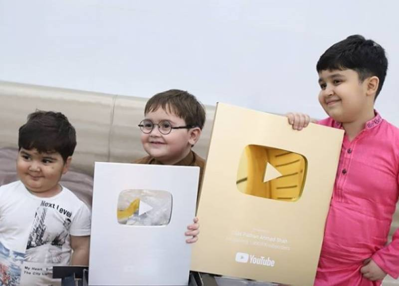 Ahmad Shah gets two YouTube play buttons at age of five